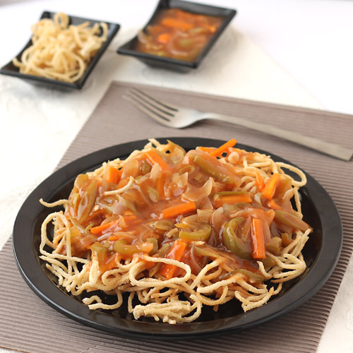 Veg american chopsuey recipe crispy noodles with stir fried vegetables american chop suey recipe forumfinder Image collections