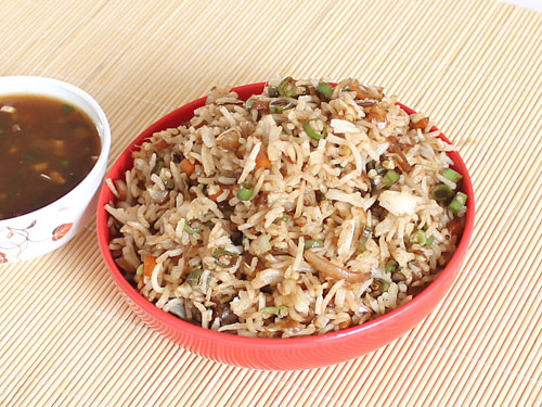 Chinese fried rice recipe how to make chinese veg fried rice chinese veg fried rice forumfinder Images