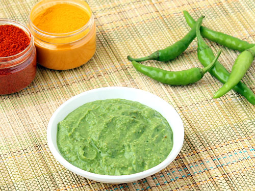 Spicy Green Chilli Chutney