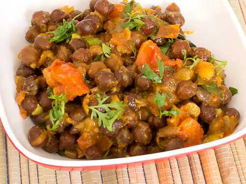 How to Make Black Chana Curry