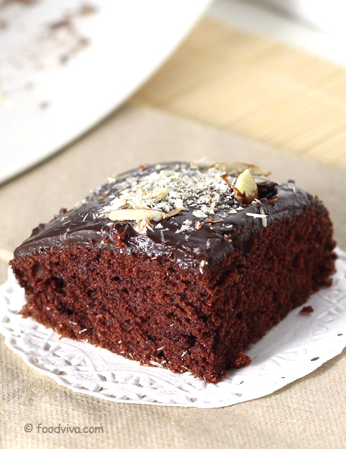 How to make dark chocolate cake at home without oven in hindi