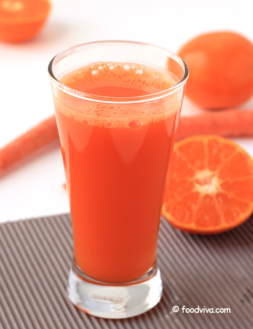 Fresh Homemade Orange Juice with Carrot