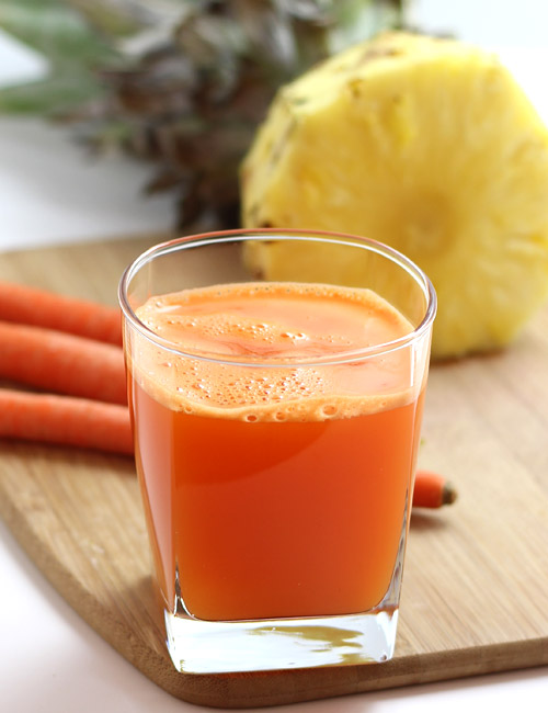 Carrot Pineapple Juice without Juicer