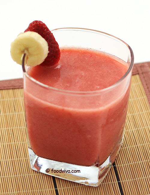 Strawberry Fruit Juice with Banana