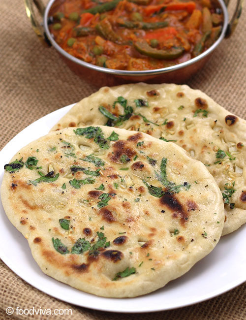 Garlic Naan Recipe using Stove Top