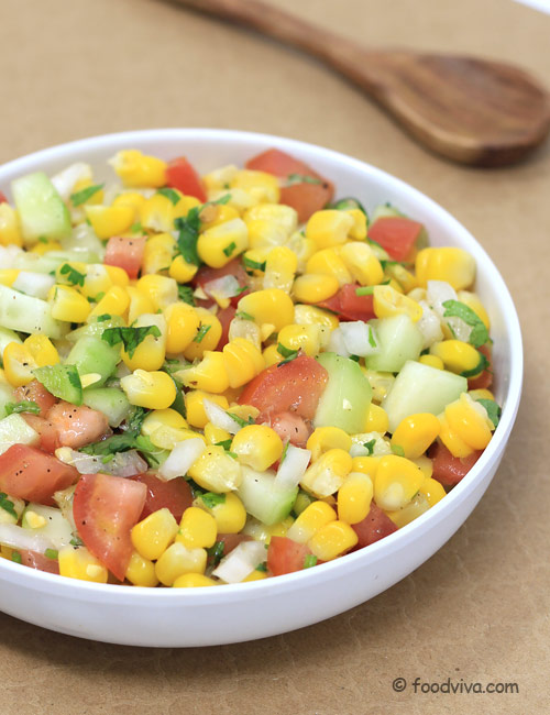 Easy Sweet Corn Salad with Lime Juice
