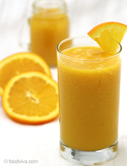 Orange Juice Smoothie Recipe - With Mango and Banana