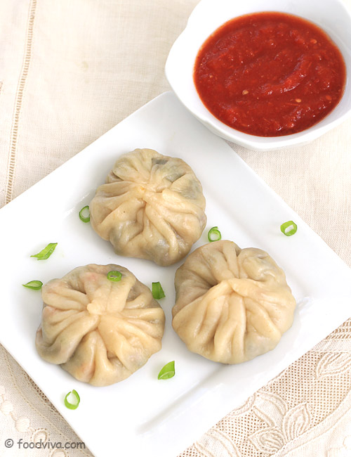 Veg Momos Recipe With Step By Step Photos - Steamed Vegetable Momos