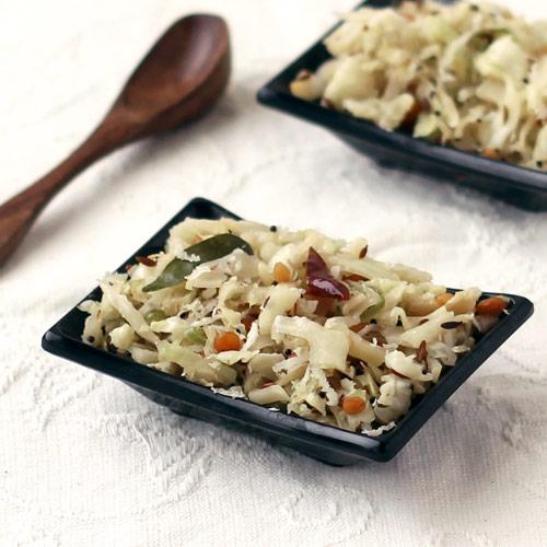 Stir Fry Cabbage Palya