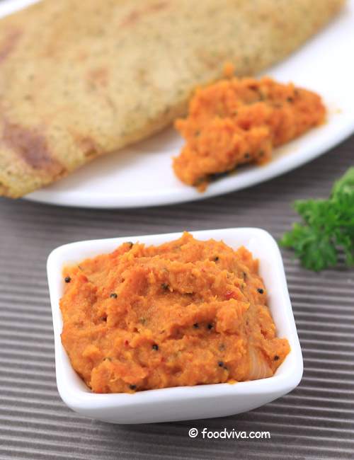 Tomato onion chutney recipe south indian tomato chutney for dosa south indian style tomato and onion chutney forumfinder