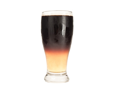 Black and Tan Cocktail