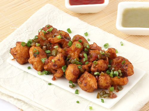 Gobi Manchurian Dry Recipe Dry Cauliflower Manchurian Step By Step Photo Recipe