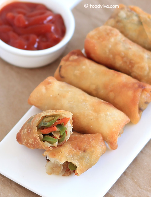 How to Make Veg Spring Rolls