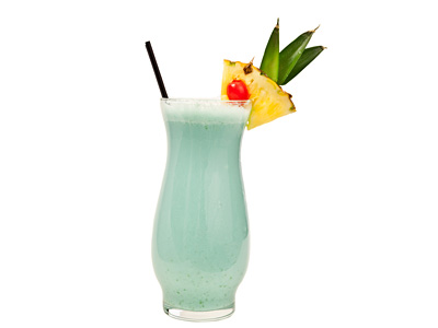 Blue Hawaiian Cocktail Recipe Tropical Mixed Drink With Blue Curacao And Rum