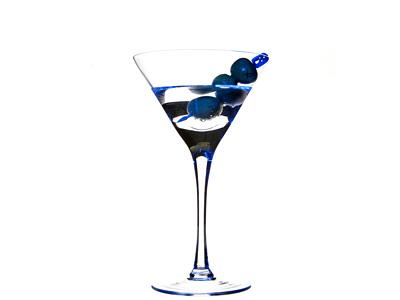Stoli Blueberry Vodka Martini