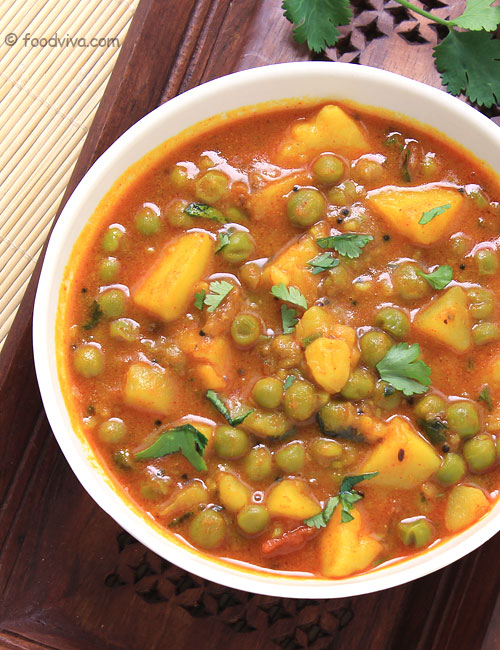 Aloo Matar Curry Recipe Using A Pressure Cooker Indian Style Potato And Peas Curry