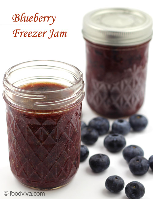 Instant Blueberry Freezer Jam Recipe with Pectin