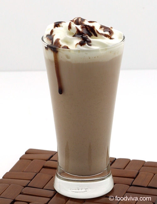 Chocolate Milkshake with Chocolate Syrup