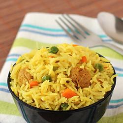 Soya Chunks Pulao (Soya Rice)