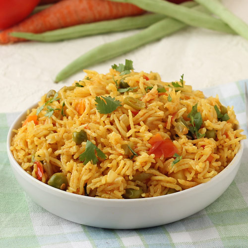 Mix Veg Pulao in Pressure Cooker