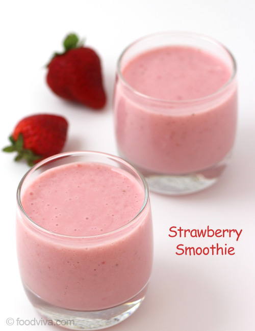 Strawberry Smoothie Recipe Refreshing Smoothie With Yogurt And Milk